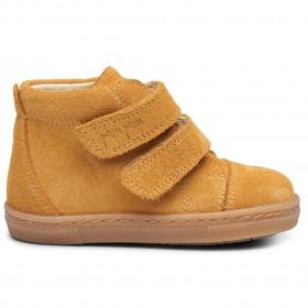 PomPom sneaker - Ruskind- Light Muestard Sued - Gul
