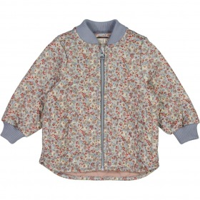Wheat Loui Termojakke - dusty dove flowers - blomster print