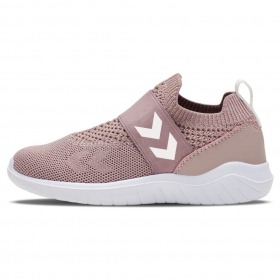 Hummel Sneakers Knit Slip-On - Rosa med glimmer - Pale Mauve - Recycle