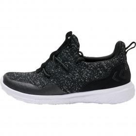 Hummel actus trainer sneaker glitter jr - sneaker i sort med sølvglimmer
