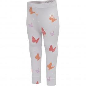 Hummel leggings - Clara - Lilac Hint - lilla m. sommerfugleprint
