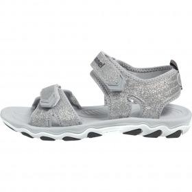 Hummel sandaler glitter jr sølv med sølvglimmer