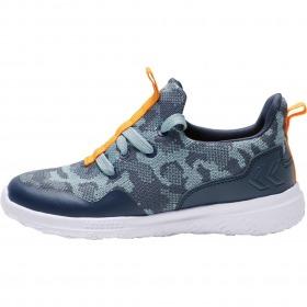 Hummel sneakers actus camo jr blue nights - mørkeblå camouflage