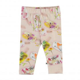 Molo baby leggings - Stefanie - Ice Lollies - Rosa m. ispinde