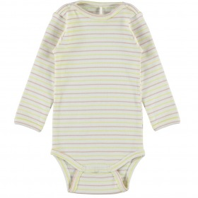 Molo body - Foss - Striped Blush - hvid m. striber