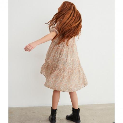 Petit By Sofie Schnoor kjole - Izma - light rose - rosa m. blomsterprint - Model