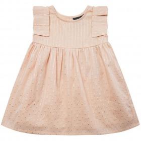 Petit By Sofie Schnoor kjole - Rosy - Light Rose - rosa med sølvstriber
