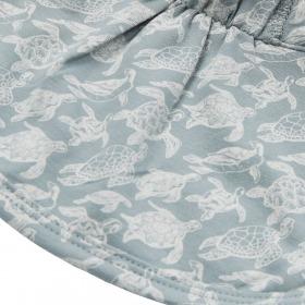 Petit By Sofie Schnoor solhat - Silas-Dusty Blue - blå med skildpaddeprint