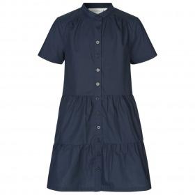 Rosemunde kjole - dark blue - mørkeblå - korte ærmer
