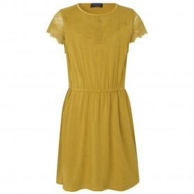 Rosemunde kjole til piger med blonder - Forrest Moss - Grøn
