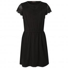 Rosemunde kjole til piger sort med blonder