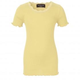 Rosemunde t-shirt korte ærmer - Vanilla yellow - gul