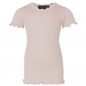 Rosemunde t-shirt korte ærmer - silke-bomuld - Vintage Powder - pudder
