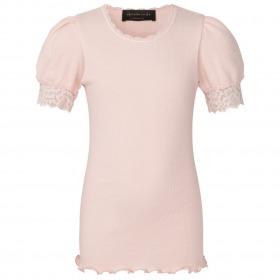 Rosemunde t-shirt med blonder - vintage powder - pudder