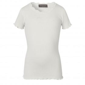 Rosemunde top med korte ærmer - New White - Hvid