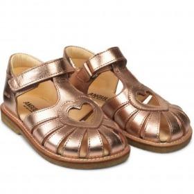 Angulus sandaler med hjerte - Rose Copper - Rosa Kobber