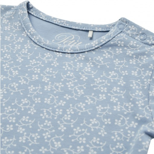 Petit By Sofie Schnoor Body - Dicte - Blue - blå med blomsterprint