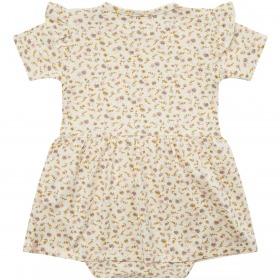 Petit By Sofie Schnoor kjolebody - Rita - offwhite med blomsterprint
