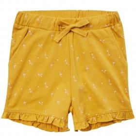 Petit By Sofie Schnoor shorts - daphne - mustard - gul med guldprint