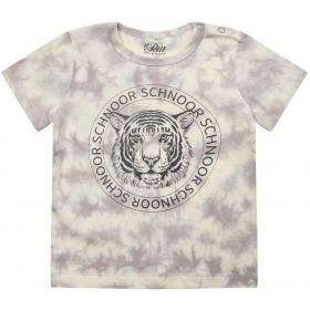 Petit By Sofie Schnoor t-shirt -Julius - Warm Grey - grå batik