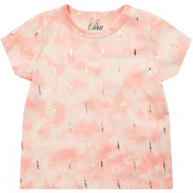 Petit By Sofie t-shirt - Ella - Coral - lyserød batik