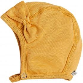 Racing Kids baby hjelm - hue - 1. lag bomuld m. sløjfe - yellow - gul