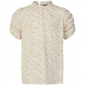 Sofie Schnoor Gilrs bluse - Carrie - Flower - creme med blomsterprint