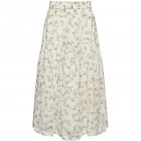 Sofie Schnoor nederdel - vivi - white - hvid med blomsterprint