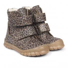 Angulus Leopard Vinterstøvler Tex Velcroluk - Leo - Mustard