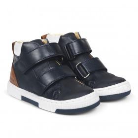Angulus Sneakers med Velcroluk – Navy Blå