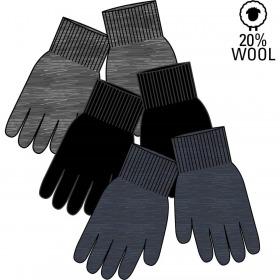 Mikk-Line magic gloves, handsker, 3-pak