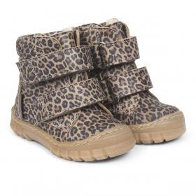 Angulus begynder vinterstøvler med tex membran, Track sål og foer - leopard mønster