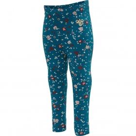 Hummel leggings - Flora - Coral Blue - Blå med blomsterprint