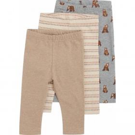 Hust and Claire leggings 3-pak - Lukas - biscuit - sandfarvet